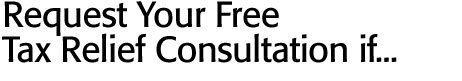 Request Your Free Tax Relief Consultation if...